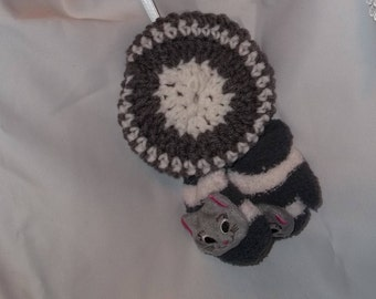 "18"" doll Gray Cat Mittens and Hat 352E"