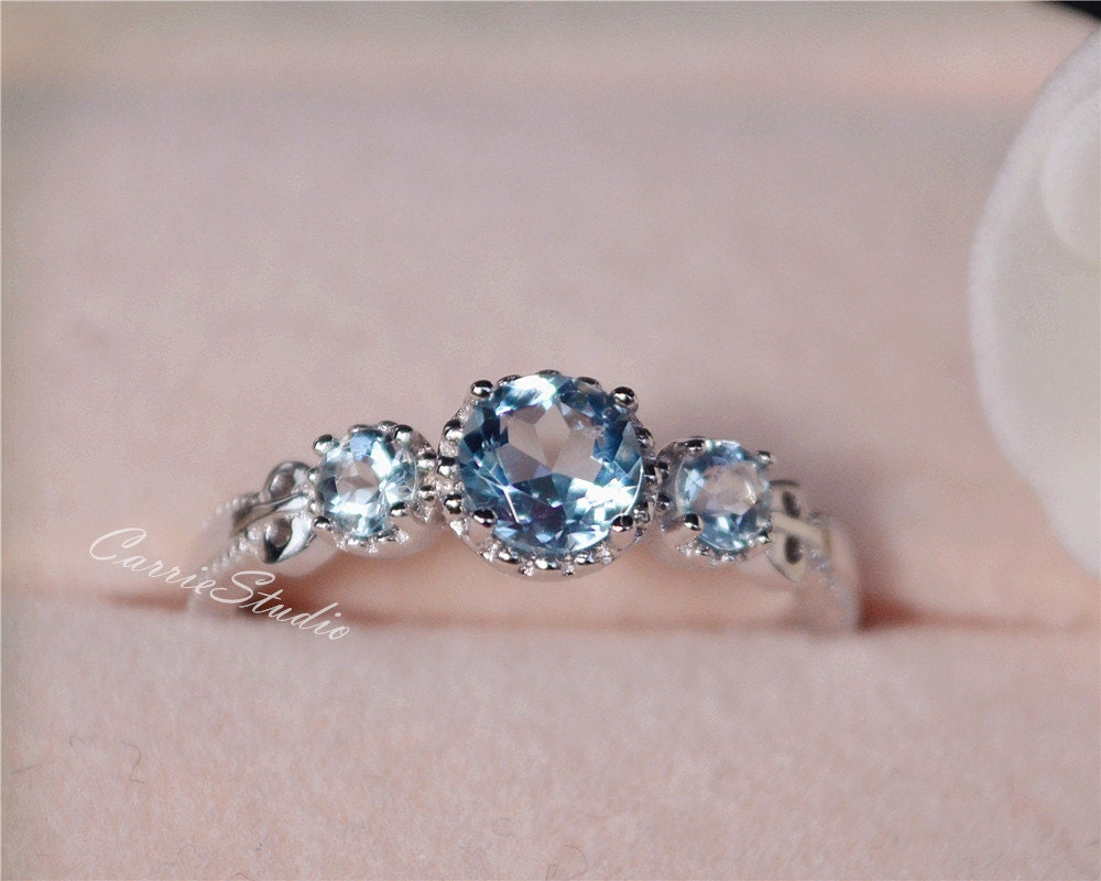 band plain halo cut engagement ring aquamarine diamond oval rings gold and white natural pin