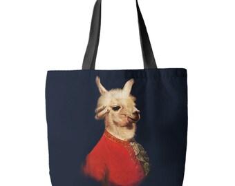 Llamadeus Mozart Tote Bag, Printed in USA