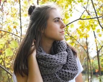 Chunky infinity scarf, infinity. cowl scarf, scarf, gray scarf, gray infinity scarf