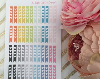 Colourful Love heart checklist stickers - planner stickers