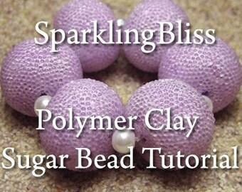 Polymer Clay Tutorial. Easy Basic Tutorial. Polymer Clay Sugar Beads. Polymer Clay