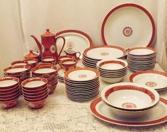 60's Taiwan Datung Ciqi 162 pc Oriental Porcelain Dinnerware Set