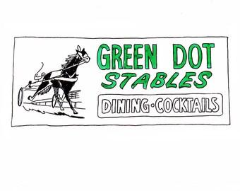 Green Dot Stables, Detroit Giclee Print 8x10