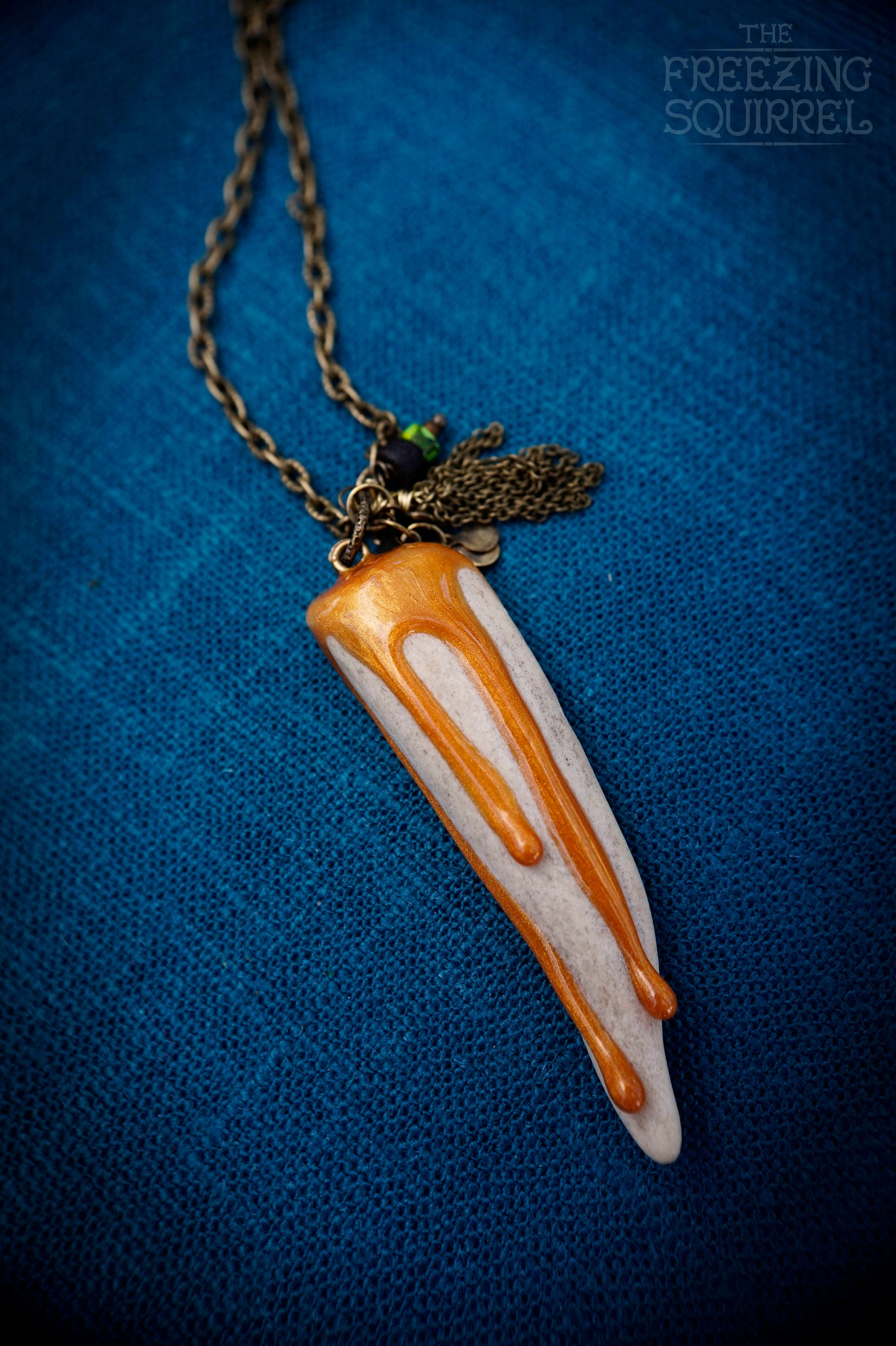 cream co antler necklace products deer shed grace colors naturally pendant abigail