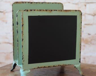 Industrial Letter Rack with Chalkboard