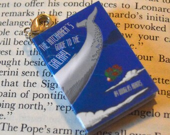 Hitchhikers Guide to the Galaxy - Zipper Charm - Purse Charm - Keychain - Free Shipping