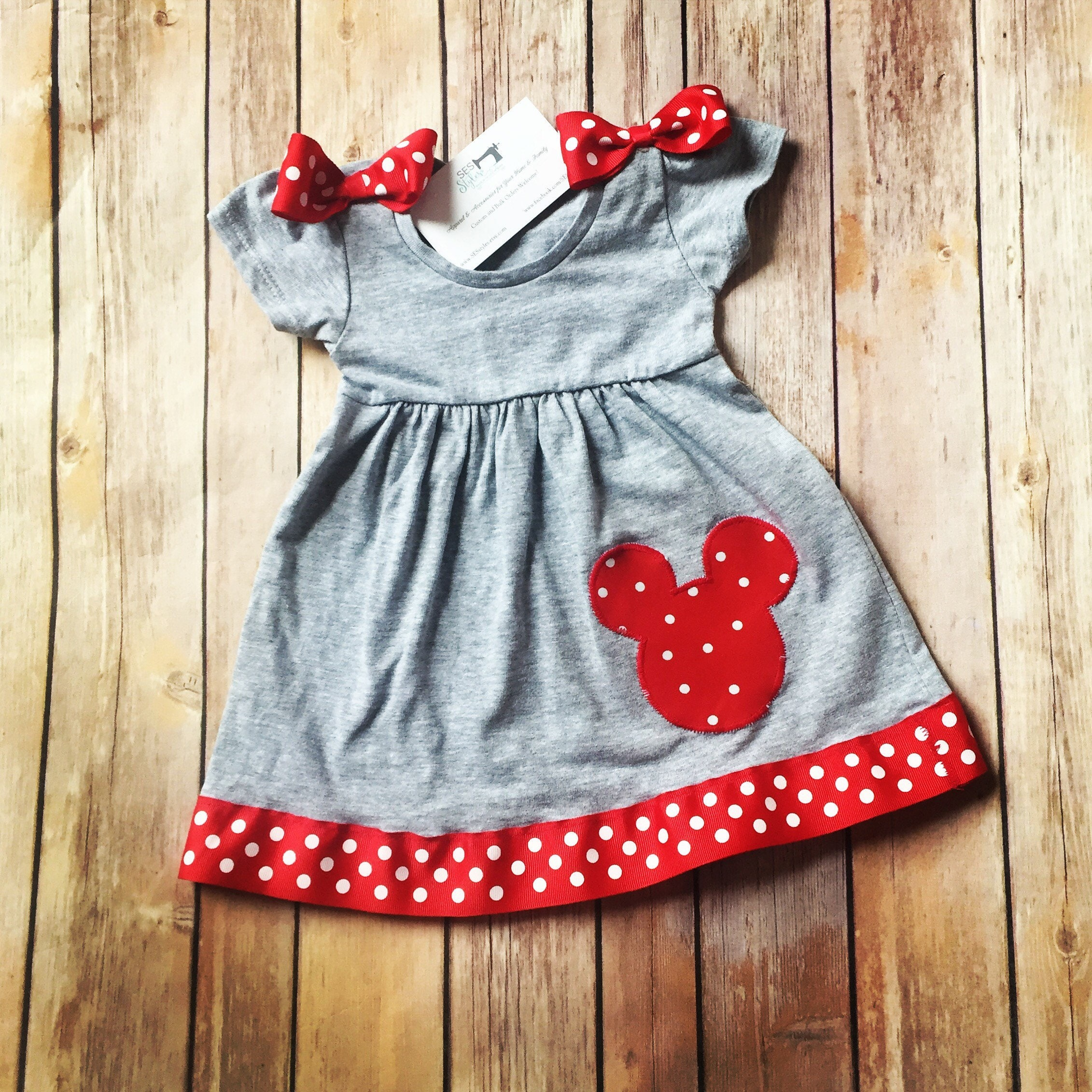 Baby Minnie Dress Toddler Minnie Dress Girls Mouse Dress