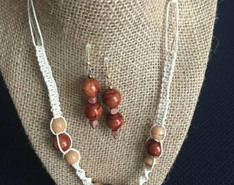 Fine cream-colored hemp and beautiful beads