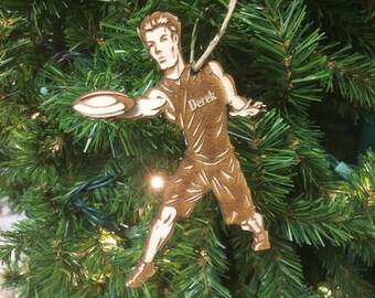 Frisbee Personalized Christmas Ornament