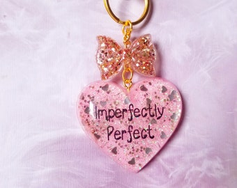 Imperfectly Perfect Rose Gold Resin Keychain