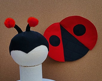 Toddler Gift Set, Ladybug Accessories Set, Mask and Wings
