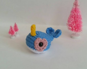 Mini Crochet Narwhal