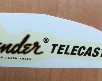 telecaster guitar decals gold waterslide. 1970s