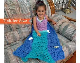 Mermaid Crochet Pattern, Princess Dress Blanket, Mermaid Tail Crochet Pattern, Mermaid Blanket Pattern,  Mermaid Tail Blanket, Toddler size