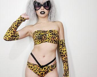 Leopard Cheetah Print 2pc // Animal Print Costume