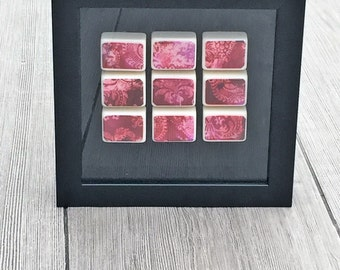Alcohol Ink Painting in Shadow Box