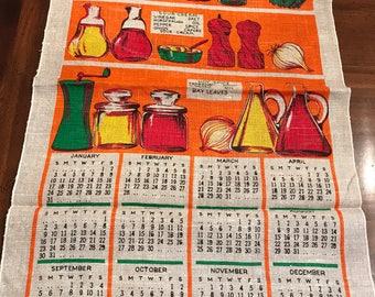 1971 Linen Calendar Towel