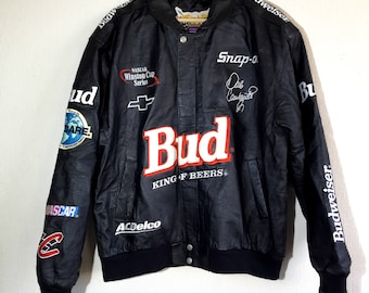 90s Budweiser Leather Jacket