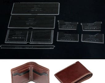 Wallet Templates Etsy - Leather wallet template