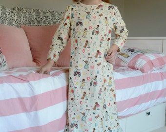 Dream Catcher Girls Nightgown pdf sewing pattern pajamas pattern, baby toddler girls Christmas pajamas nightgown pattern Seamingly Smitten