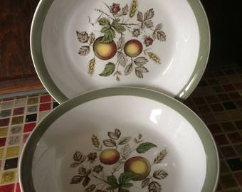 2 x Vintage Alfred Meakin Hereford  Cereal Bowls - 1950s/1960s