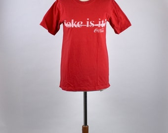 1980's Coca Cola T-Shirt - Coke Is It50/50 Poly/Cotton, Size XL