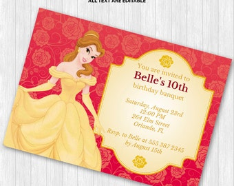 Bauty and the Beast Party Invitation