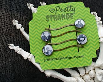 Skeleton gentleman hair pin set