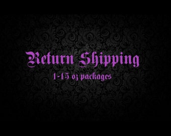 Return Shipping Fee (1-15oz)