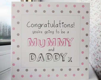 Mummy-to-be and Daddy-to-be card - you're expecting a baby!