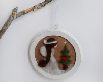 Angel Ornament - Felted Angel - Christmas Ornament - Waldorf Angel