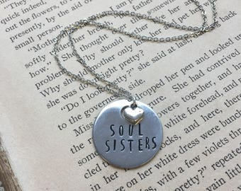 Soul Sisters - Hand Stamped Necklace or Key Chain