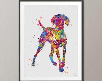 Hungarian Vizsla Dog Watercolor Print Magyar Dog Pet Gift Dog Love Puppy Friend Dog Art Customizable Animal Poster Vizsla Poster Dogart-1117