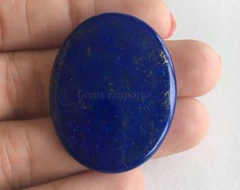 Natural Lapis Lazuli Loose Gemstone Oval 38x29 MM - Lapis Pendant - Blue Gemstone - Lapis Jewelry Supply - Price per piece - LPZ01