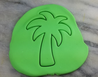 Palm Tree Cookie Cutter #2 - SHARP EDGES - FAST Shipping - Choose Your Own Size!