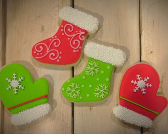 Mittons and Stocking Sugar Cookies