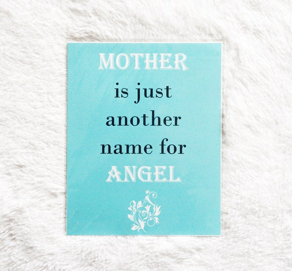 Mother Angel 8x10 Print, Mother's Day Gift