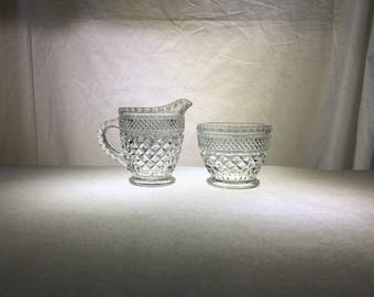 Creamer Pitcher and Open Sugar Bowl Set | Wexford by Anchor Hocking