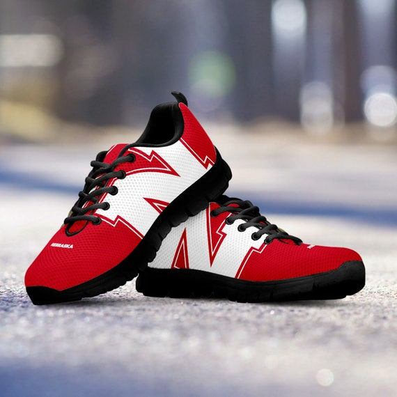 Trainers Nebraska Sneakers Sizes Fan Cornhuskers Custom Mens Shoes Ladies Black gift Unofficial r00wRqxS4