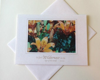 Summer Rain Photo Note Card Blank Inside Inspirational Quote