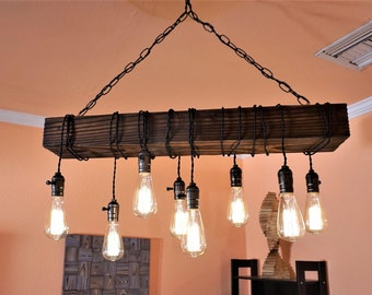 Rustic chandelier etsy farmhouse chandelier wood chandelier rustic aloadofball Image collections