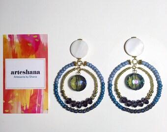 Blue Ombre Post earrings