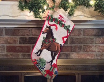Personalized stockings for dog cat horse their by babarkergifts bay horse personalized needlepoint horse christmas solutioingenieria Images