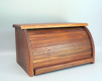 Wood Roll-top Bread Box