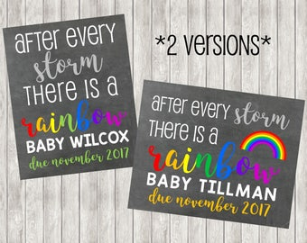 Digital Rainbow Baby Pregnancy Announcement | Pregnant | Rainbow Baby | Babies | After Every Storm | Miracle Baby