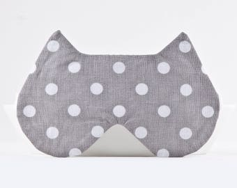 Gray Sleep Mask, Best travel gifts, Dotted Lingerie, Cat Lover Gift, Girlfriend Gift, Best mother's day gifts