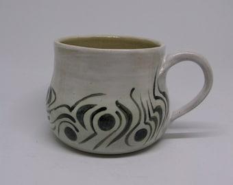 Noir et blanc mug, tasse à café, mug blanc