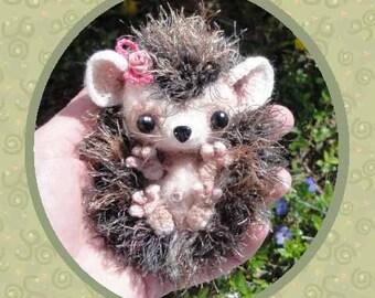 Ginny the Baby HedgeHog  Milk Cap Cutie Digital PDF  CROCHET PATTERN
