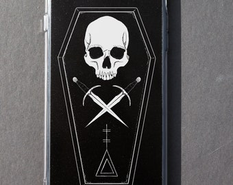 Occult iPhone case Nu gothic Pastel goth Tumblr Aesthetic Dark iPhone 6 6s 6+ 6s+ 7 7+ 8 8+ plus X Spooky Creepy Skull Coffin All seeing eye